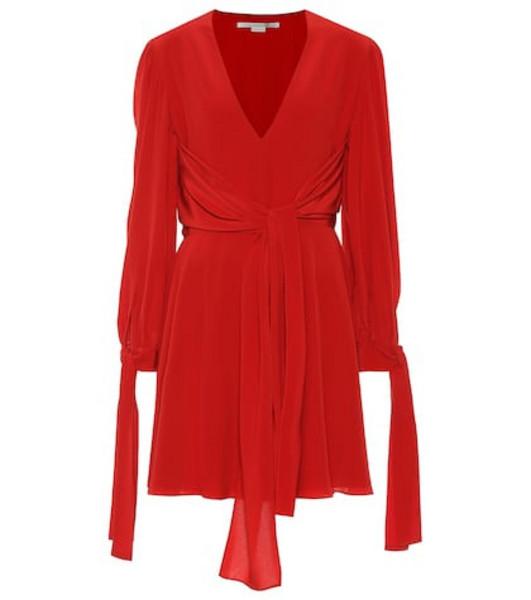 Stella McCartney Silk minidress in red