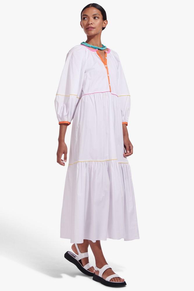 Staud DEMI DRESS | WHITE MULTI