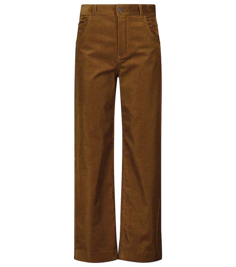 Loro Piana Stretch-cotton corduroy pants in brown