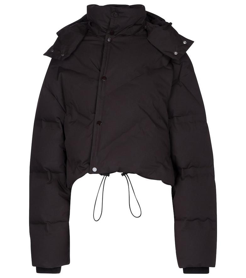 Bottega Veneta Hooded down jacket in brown