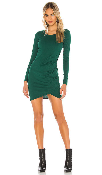 Bobi Supreme Jersey Dress in Green