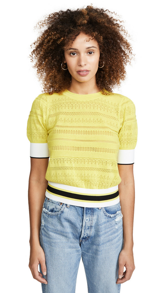 Tanya Taylor Leticia Sweater in yellow