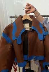 jacket,brown,leather