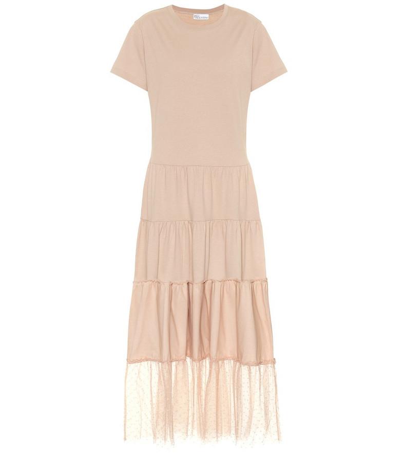 REDValentino Cotton-jersey dress in beige