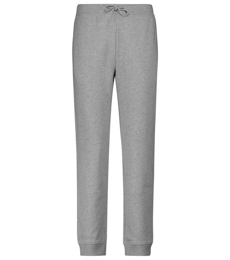 A.P.C. Item F cotton fleece sweatpants in grey