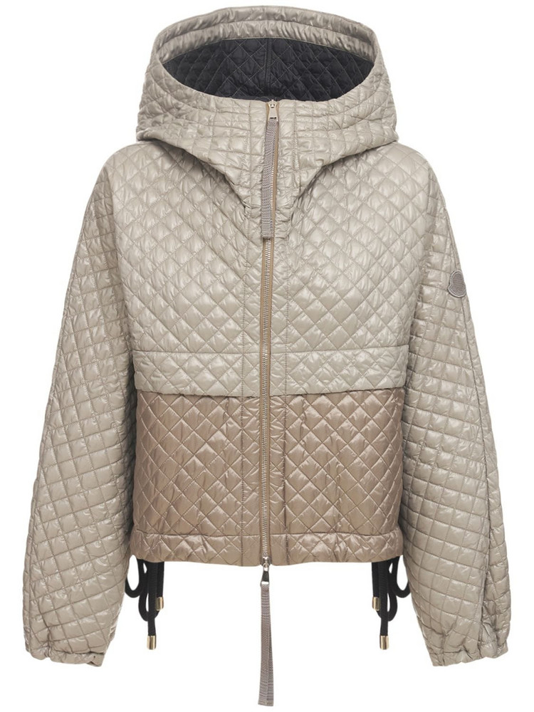 MONCLER GENIUS Citrine Nylon Short Down Jacket in green