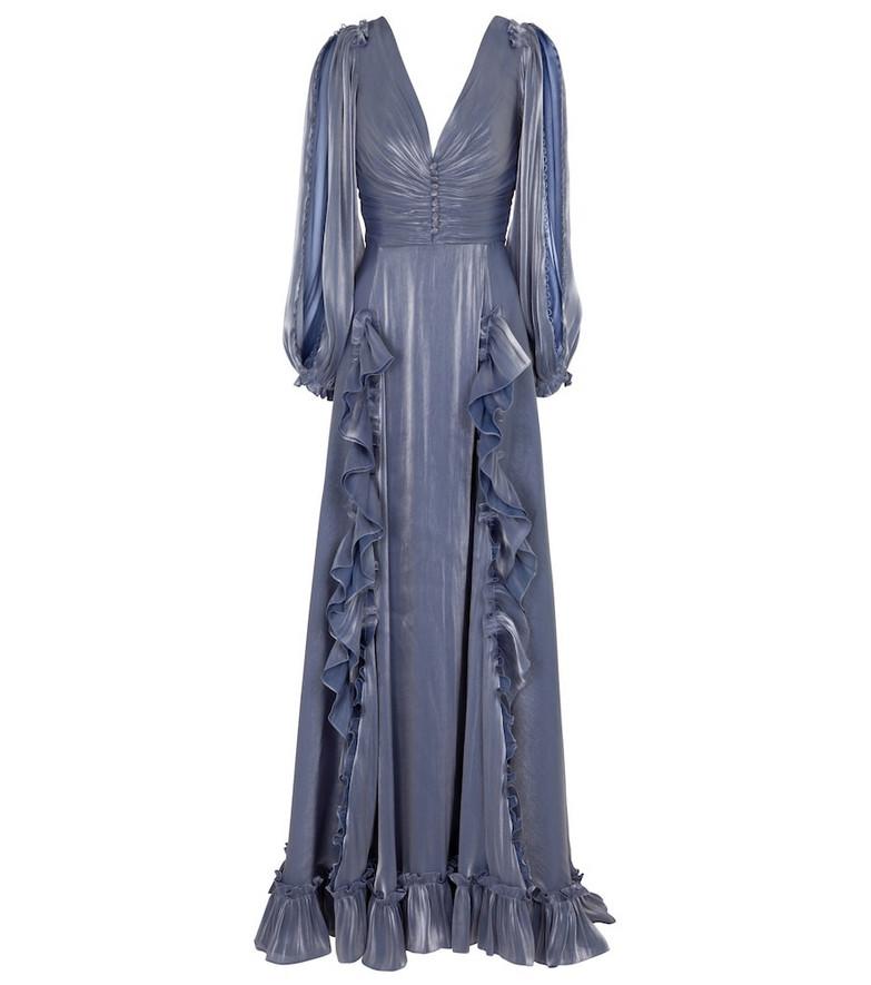 Costarellos Selda georgette gown in purple