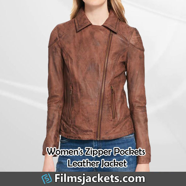 coat womens brown leather biker jacket leather jacket jacket fashion outfit womenswear women's outfit womens fashion