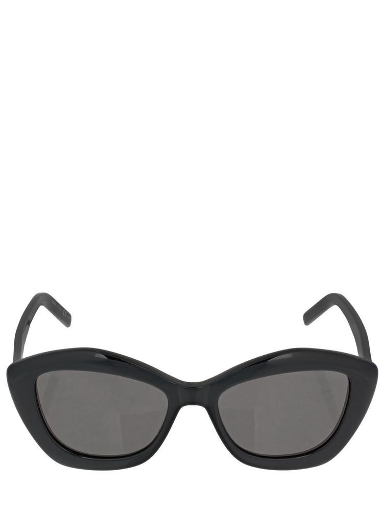 SAINT LAURENT Sl 423 Bolded Acetate Sunglasses in black / grey