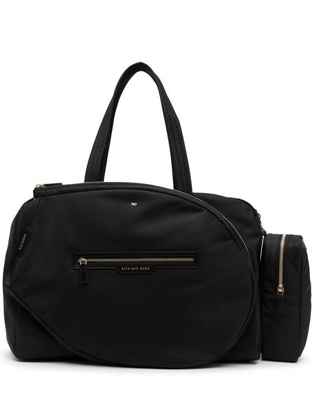 Anya Hindmarch slogan-print zipped shoulder bag - Black