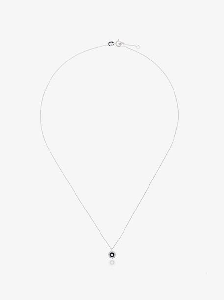 Alemdara 18k White Gold Handan Diamond Eye Necklace