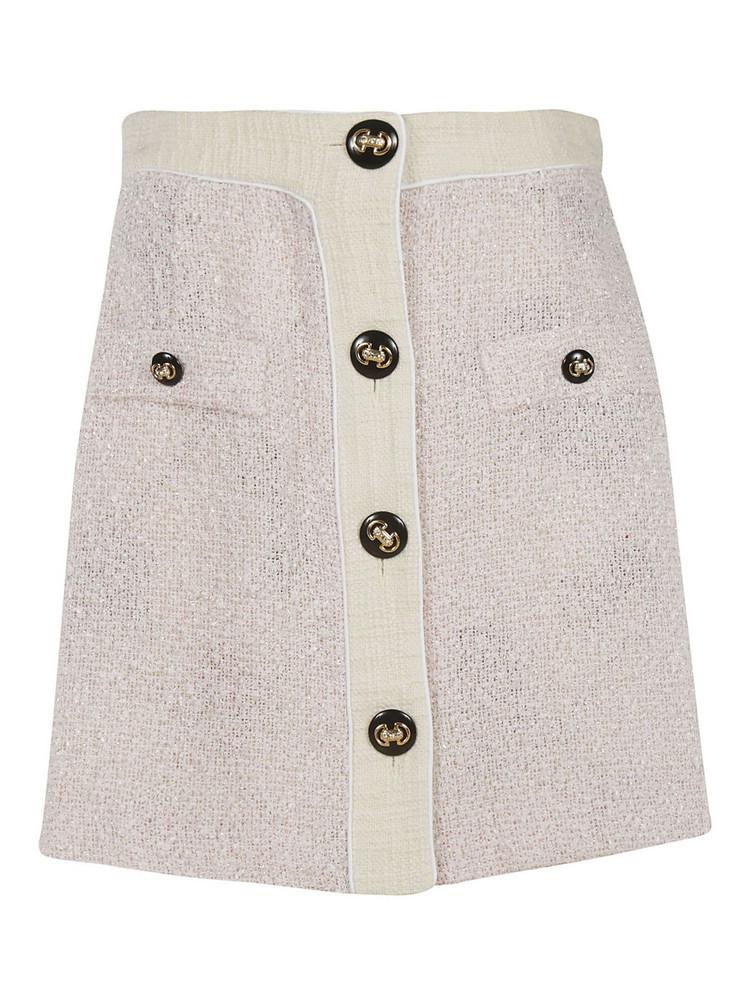 Alessandra Rich Tweed Skirt in pink