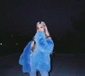 jacket,blue,ariana grande