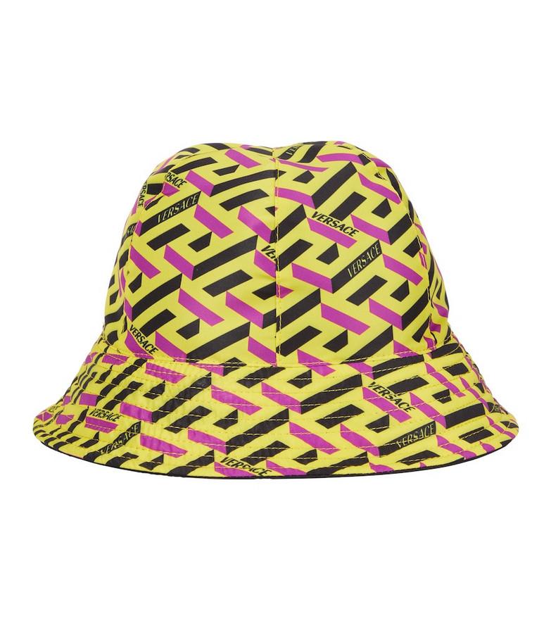Versace La Greca Signature reversible bucket hat in black
