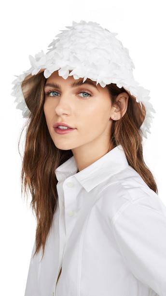 Eugenia Kim Toby Bucket Hat in white