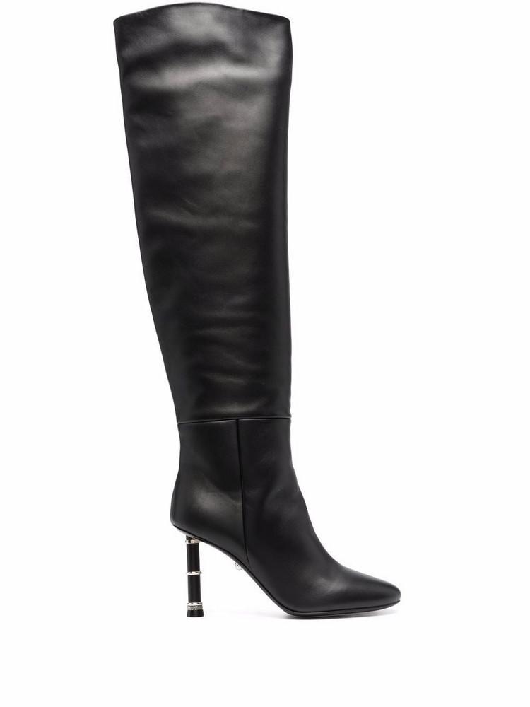 Alevì Alevì Nina thigh-high leather boots - Black