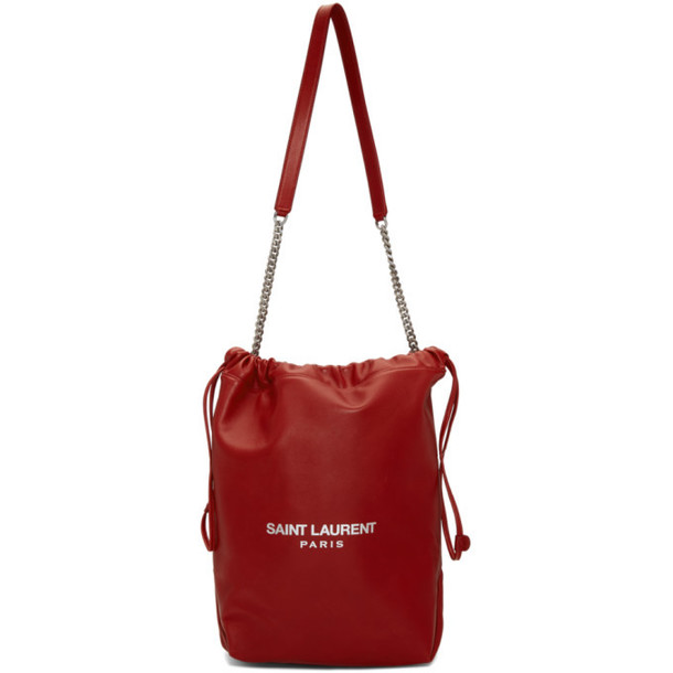 Saint Laurent Red Teddy Shoulder Bag
