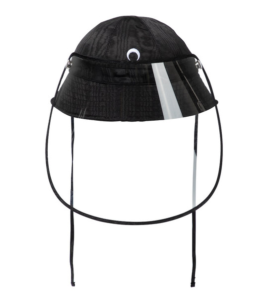 Marine Serre Exclusive to Mytheresa – Bucket hat with visor in black