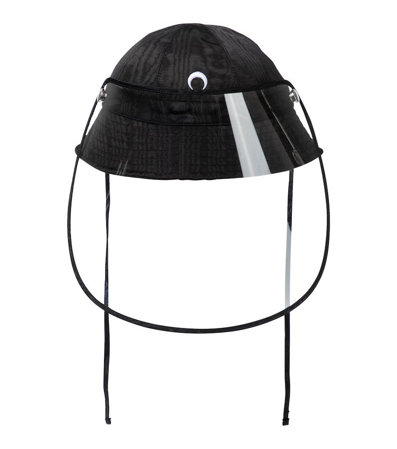 Marine Serre Exclusive to Mytheresa – Bucket hat with visor in black