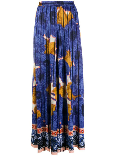 Etro floral print palazzo pants in blue