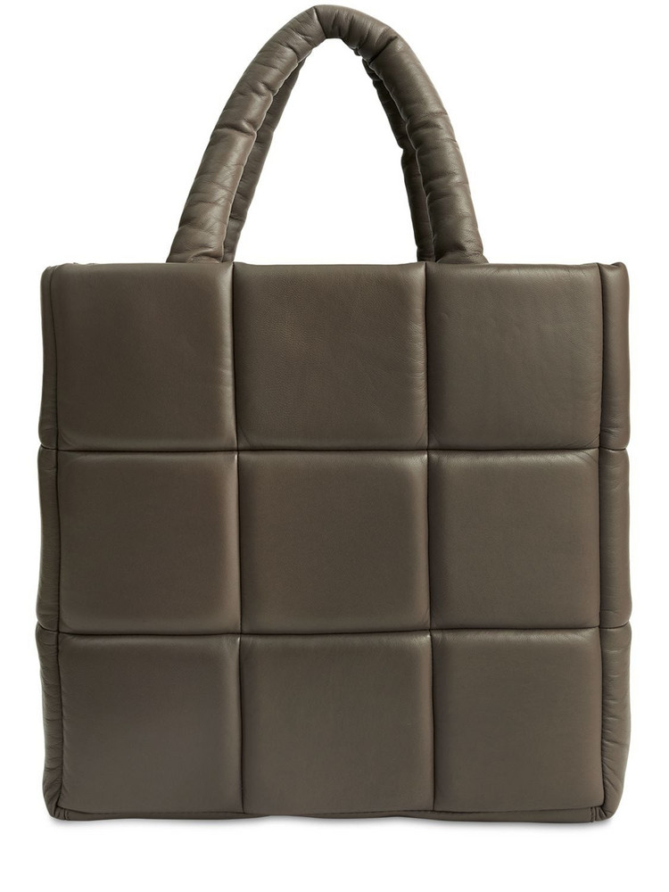 STAND STUDIO Assante Quilted Leather Tote Bag in brown