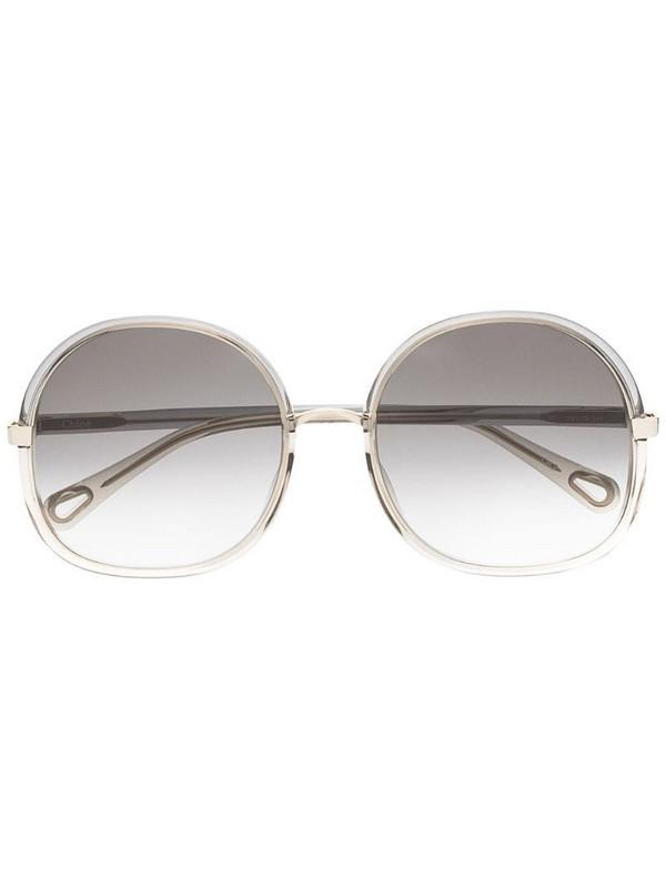 Chloé Eyewear oversized-frame sunglasses in gold
