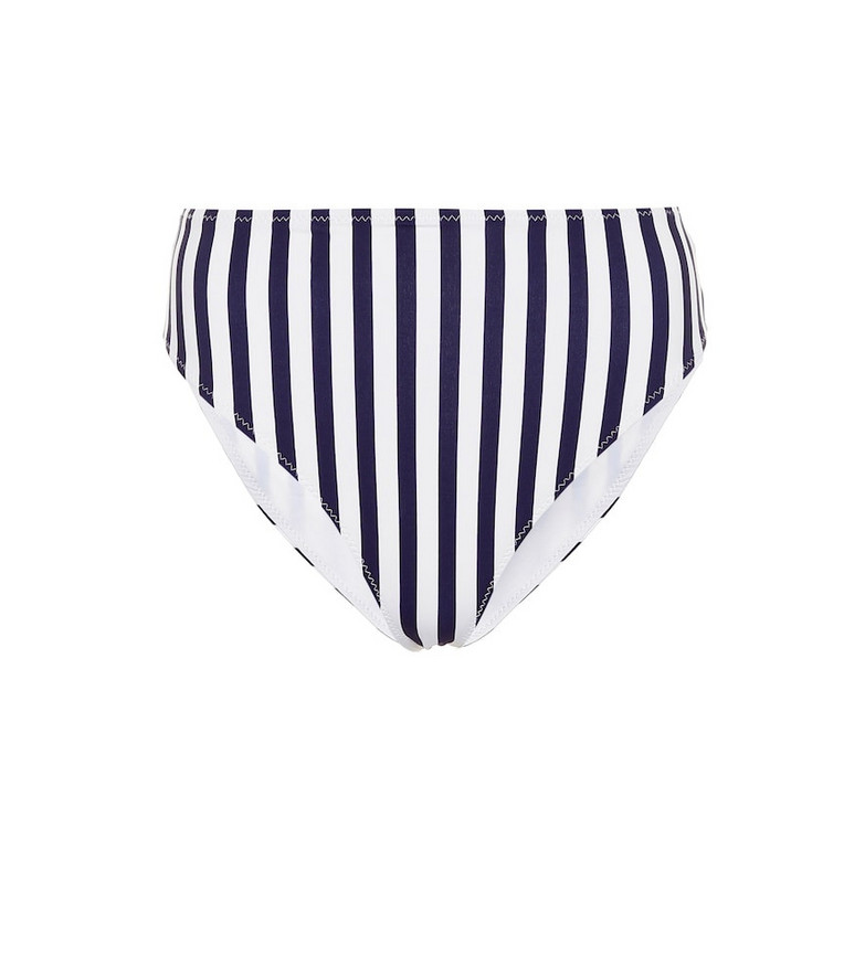 Caroline Constas Viki high-rise bikini bottoms in blue