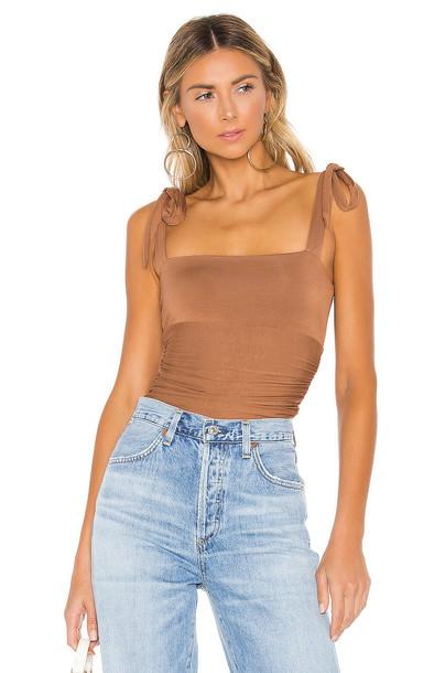 MAJORELLE Lauren Bodysuit in brown