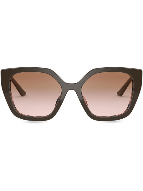 Prada Eyewear polarised oversize sunglasses in brown