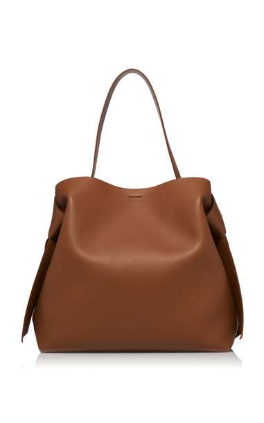 Acne Studios Musubi Maxi Knotted Leather Shoulder Bag in brown