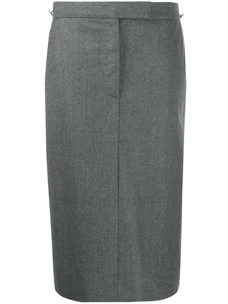 Thom Browne Sack tailored skirt in grey