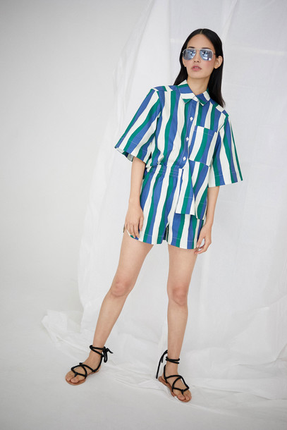 WHIT Rocky Short in Wavy Stripes *Pre-order for April Delivery*