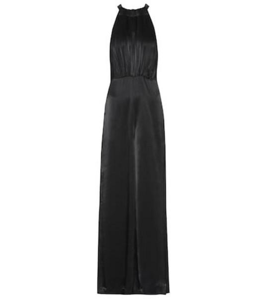 ROTATE BIRGER CHRISTENSEN Satin jumpsuit in black