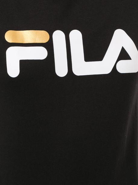 Fila logo print T-shirt in black