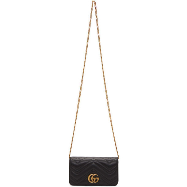 Gucci Black Quilted GG Marmont 2.0 Bag