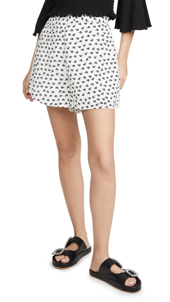 The Fifth Label Kaleidoscope Shorts in black / ivory