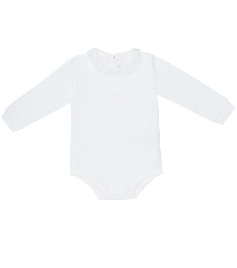 Il Gufo Baby cotton bodysuit in white