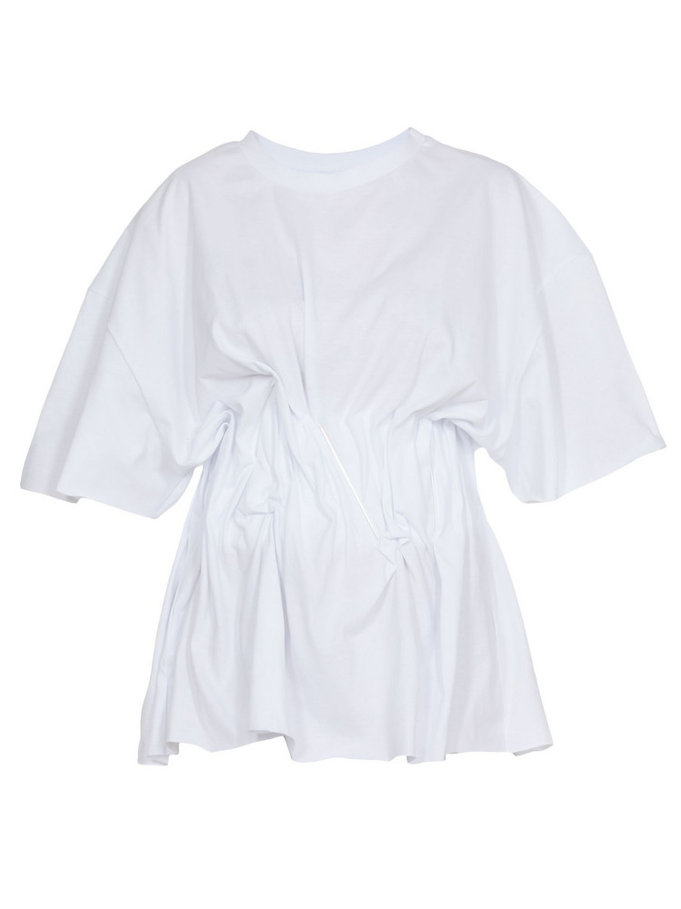 Natasha Zinko T Shirt With Corset in white