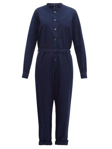 A.P.C. A.p.c. - Laura Lightweight Cotton Jumpsuit - Womens - Indigo