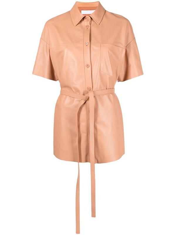 Drome waist-tied shirt in orange