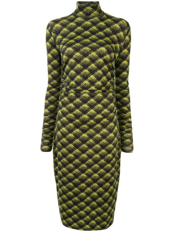 Proenza Schouler White Label plaid mid-length dress in green