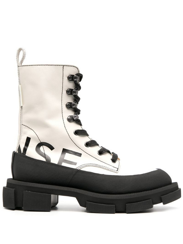 Monse logo-print lace-up ankle boots in black