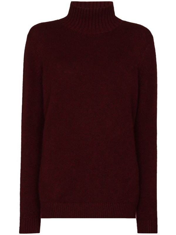 The Elder Statesman turtleneck cashmere jumper in red