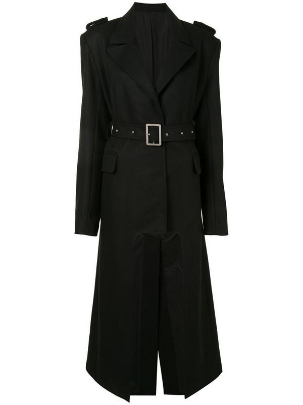 Boyarovskaya cut-out oversized trench coat in black
