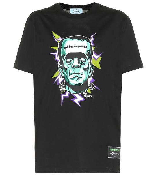Prada Frankenstein cotton T-shirt in black