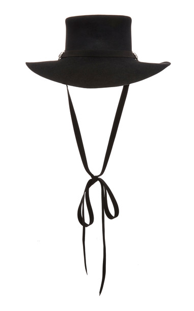 Clyde Longing Gaucho Angora Hat Size: S/M in black