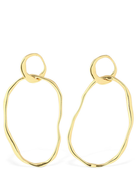 CORNELIA WEBB Organic Interlocked Hoop Earrings in gold