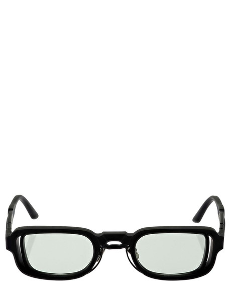 KUBORAUM BERLIN N12 Double Frame Squared Sunglasses in black / green