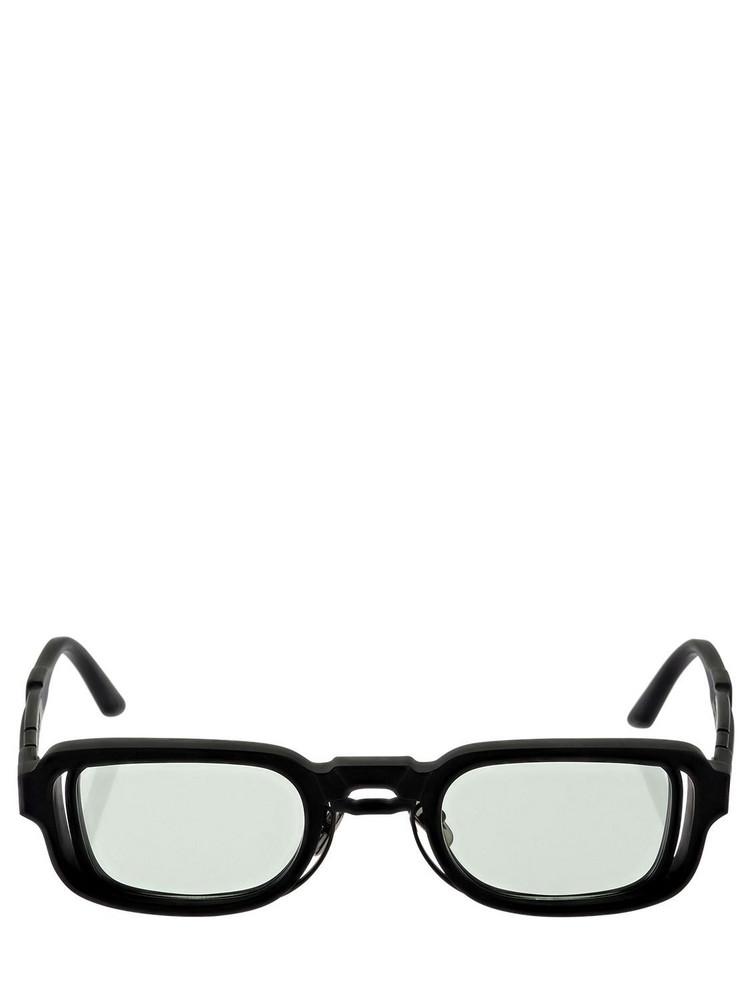 KUBORAUM BERLIN N12 Double Frame Squared Sunglasses in black / green