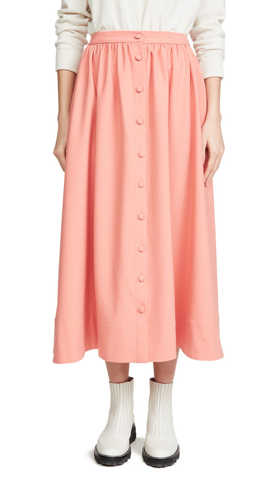 Chinti and Parker Full Skirt in rose